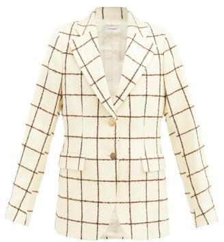 Wales Bonner Judah Windowpane-check Wool-blend Jacket - Ivory