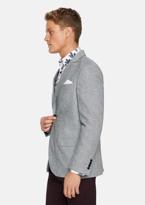 TAROCASH Grey Fraser Linen Blend Blazer