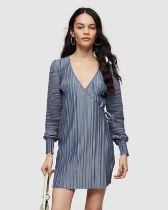 Topshop Plisse Shirred Wrap Dress