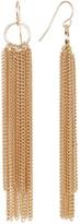 Natasha Accessories Chain Tassel Earrings