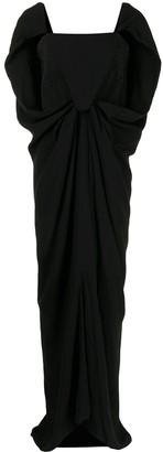 Balenciaga Pre-Owned Cape Detail Draped Long Dress