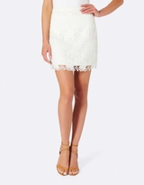 Forever New Sammi Lace A-line Mini Skirt