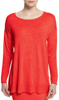 Eileen Fisher Long-Sleeve Luxe Merino Tunic, Plus Size