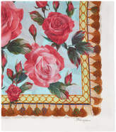 Dolce & Gabbana Multicolor Roses Scarf