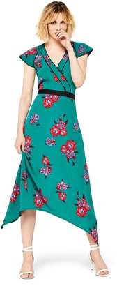 Find. Standard Women's Midi Floral Wrap Dress