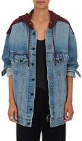 Denim x Alexander Wang Women's Daze Hooded Denim Trucker Jacket