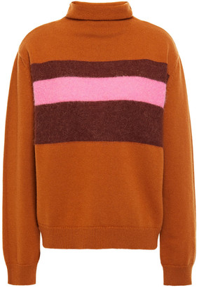 Chinti and Parker Color-block Merino Wool-blend Turtleneck Sweater