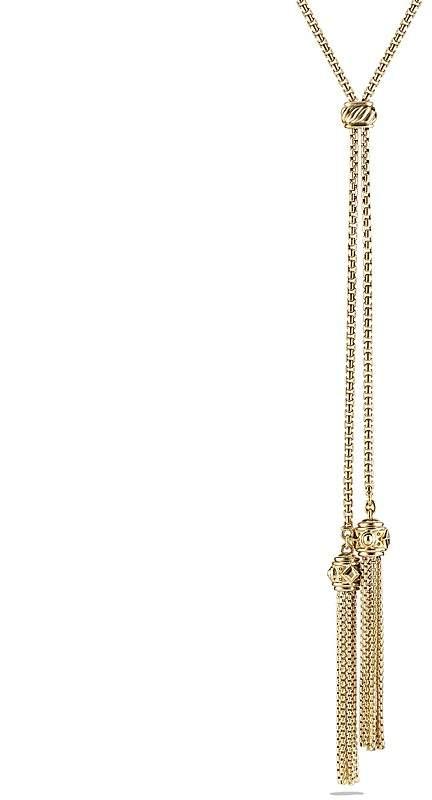 David Yurman Renaissance Tassel Necklace with 18K Gold