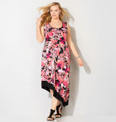 Avenue Tropical Floral Asymmetrical Dress