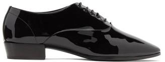 Saint Laurent Marius Patent-leather Oxford Shoes - Mens - Black