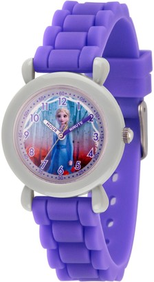 EWatchFactory Disney Frozen 2 Girls' Elsa Purple Strap Watch