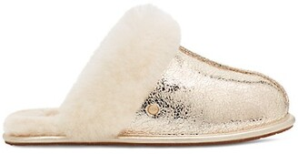 UGG Scuffette II Metallic Sparkle Sheepskin Slippers