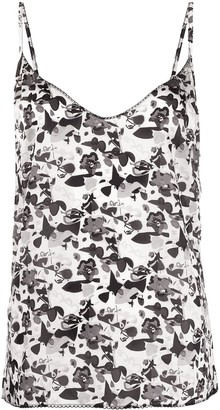 Chanel Pre Owned 2005 floral CC print camisole