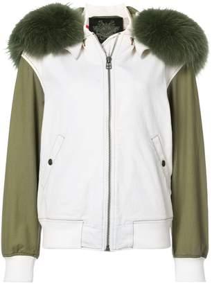 Mr & Mrs Italy denim bomber jacket