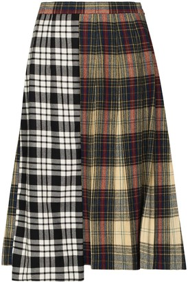 Rentrayage Panelled Checked Skirt