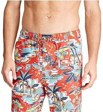 Polo Ralph Lauren Tropical Stretch Woven PJ Pants (Maui Print/Boston Navy Pony Print) Men's Pajama