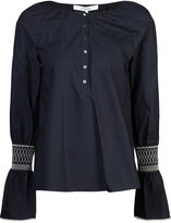 Derek Lam 10 Crosby embroidered bell sleeve top - women - Cotton - 0