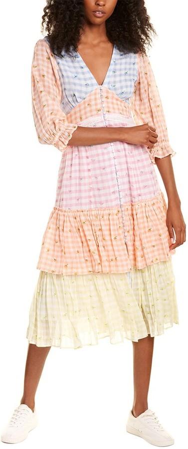 LoveShackFancy Ollie Midi Dress