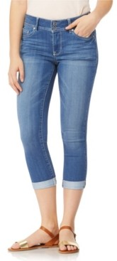 WallFlower Ultra Roll Cuff Crop Capri Jeans