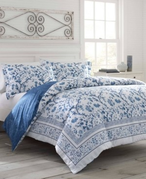 Laura Ashley Charlotte China Blue Duvet Set, Full/Queen Bedding