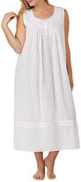 Eileen West Plus Floral-Embroidered Ballet Nightgown
