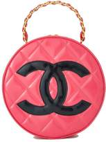Chanel Pink Quilted Patent Leather Round 'CC' Bag