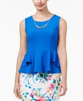 Thalia Sodi Textured Peplum Necklace Top, Only at Macy's