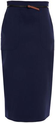 Altuzarra Leather-trimmed Wool-blend Skirt