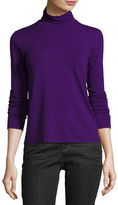 Eileen Fisher Jersey Scrunch-Neck Top