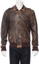 Alexander McQueen Distressed Leather Jacket
