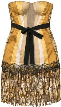 Bottega Veneta Pre Owned Off-Shoulder Fitted Dress