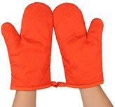 Sealike Good Grips Rhombic Oven Mitt Cooking Mitts Pot Holder Potholder Heat Resistant Mitt with a Stylus Orange
