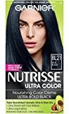 Garnier Nutrisse Ultra Color Nourishing Color Creme, BL21 Reflective Blue Black (Packaging May Vary)