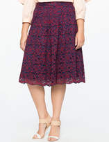 ELOQUII Studio Lace A-Line Skirt