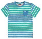 Lee Cooper Kids Boys Tee Crew Neck Shirt Short Sleeve Cotton Regular Fit Stripe