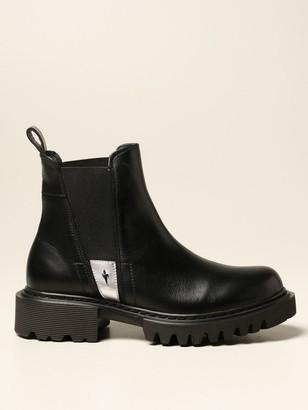 Paciotti 4Us Flat Booties Chelsea Boots In Calfskin