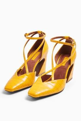 Topshop Womens Ghost Ochre Cross Front Court Shoes - Ochre