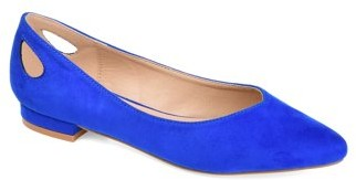 Brinley Co. Womens Classic Heel Cut-out Flat