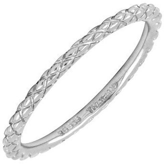 Simply Stacks Sterling Silver 1.5mm CrisscrossRing