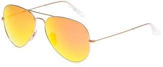 Ray-Ban Unisex's RB3025 Aviator Mirrored Sunglasses