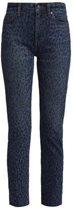 Joe's Jeans Milla High-Rise Leopard Print Straight Jeans