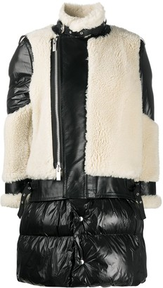 Sacai Wool-Panelled Padded Coat