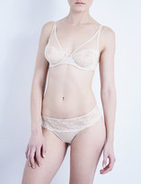 Wacoal Ãclat embroidered stretch-tulle and satin underwired bra