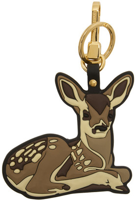 Burberry Brown 2D Deer Keychain