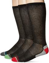 Fruit of the Loom Men's 3 Pack Breathable Sport Cotton Crew Socks