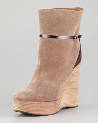 Chloé Suede Wedge Boot