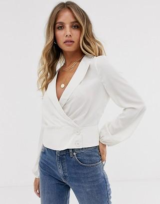 Emory Park wrap front blouse