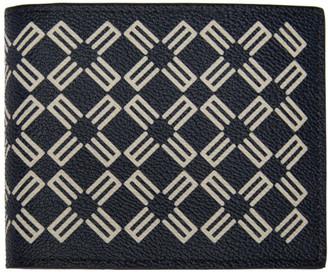 Etro Navy Logo Pattern Wallet
