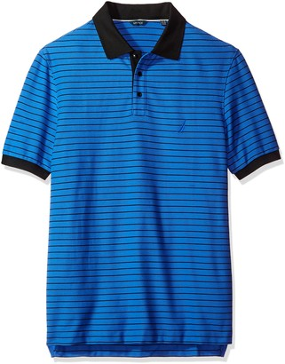 Nautica Men's Big and Tall Big & Tall Short Sleeve Striped Polo Shirt