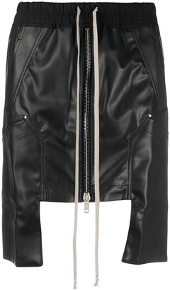 Rick Owens Drawstring-Waist Mini Skirt